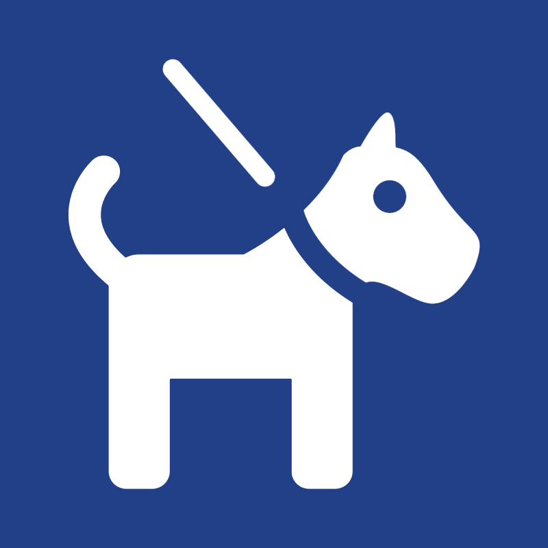 Honden aan de leiband geaccepteerd