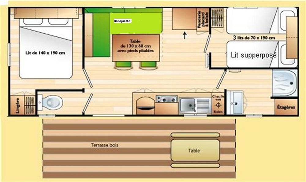 Mobil-home Evasion PLUS 2 ch – 5 pers